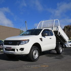 2013 Ford PX Ranger XL HighRIder Extra Cab Flat Tray Tipper Ute